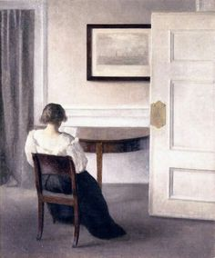 Vilhelm Hammershøi, Interior, 1893, Oil on canvas, 56,5 x 46,5 cm, Göteborgs Konstmuseum