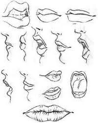 Resultado de imagen para como dibujar labios