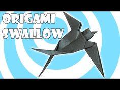 Origami Swallow Tutorial - YouTube