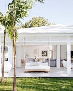 Three Birds Renovations - Bonnie's Dream Home - Undercover Alfresco Outdoor Lounge, Outdoor Cabana, Outdoor Spaces, Outdoor Living, Patio Makeover, Beach Shack, Coastal Homes, Beach House Decor, Patio Design