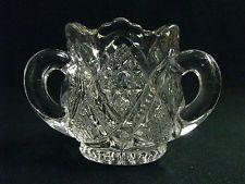 "Antique 1898 ""Minnesota"" Pattern Glass Toothpick Holder"