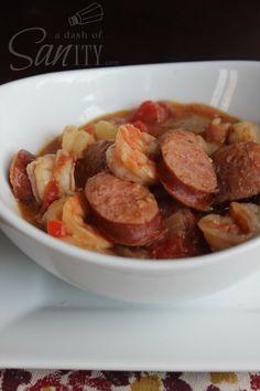 Slow Cooker Sausage & Shrimp Gumbo