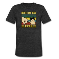 Geschenke Shop | best cat dad - Unisex Tri-Blend T-Shirt von Bella + Canvas Crazy Cat Lady, Crazy Cats, Shirt Diy, Cat Dad, Unisex, Cool Cats, Bella Canvas, Dads, Mens Tops
