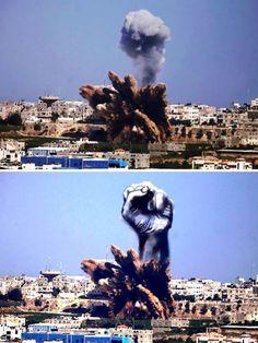 Suggestivi e potenti: sono i bozzetti di un architetto palestinese che ha trasformato in simboli di unità e speranza il fumo provocato dalle bombe israeliane su Gaza. Le nuvole di morte diventano volti di bambini, una madre che abbraccia il figlio e sagome di cavalli in libertà. Il gio