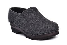 5b561c1f15c9 The Van Gogh clog is one of our best selling styles. Here in grey wool felt.  Have a look on our web for more details