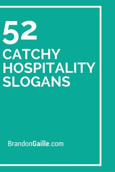 101 Catchy Hospitality Slogans and Taglines Marketing Slogans, Business Slogans, Tourism Marketing, Marketing Quotes, Marketing Ideas, Restaurant Quotes, Restaurant Names, Catchy Slogans, Catchy Phrases