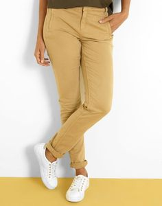 Pantalon slim uni beige Femme - Jacqueline Riu