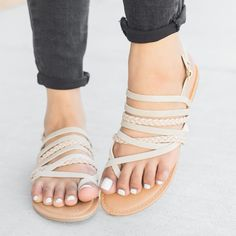Strappy Braid Strap Slingback Sandals | Jane
