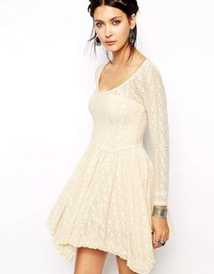 ASOS | Free People Skater Dress in Lace #asos #dress