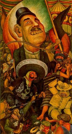 Carnival of Mexican Life. Dictatorship - Diego Rivera, 1936