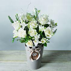 Super White Winter Wonderland Rose & Freesia Bouquet - Waitrose