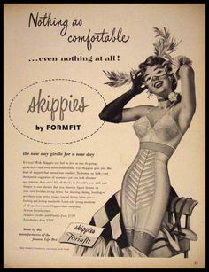 Formfit, vintage advertising - girdle