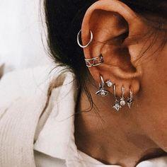 how to wear cartilage helix hoop pin piercing earrings inspiration ide – ONDAISY