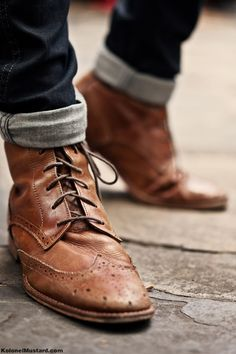 Boots Brown and Leather on Pinterest