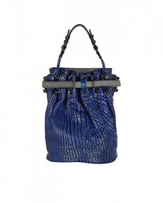 Is it just us, or does this ultra-cool bag seem otherworldly? // Diego Textured-Leather Bucket Bag by Alexander Wang