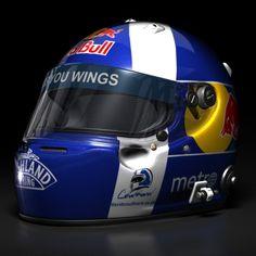 David Coulthard 2008 F1 Helmet Vehicles 3D Models