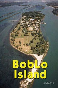 Boblo Island - was an amusement park in between Windsor,Canada and Detroit Michigan. And separated by the Detroit River. Michigan Travel, State Of Michigan, Detroit Michigan, Lake Michigan, Flint Michigan, Travel Oklahoma, Detroit Rock City, Detroit Area, Detroit Map