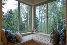 corner window seat, dogs would love it!