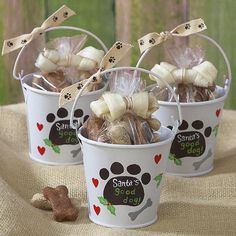 Holiday Pet Treat Mini-Pail Trio $17.99