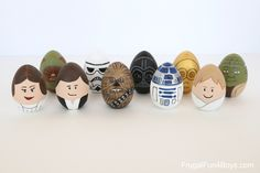 How to Make Star Wars Painted Easter Eggs - Frugal Fun For Boys