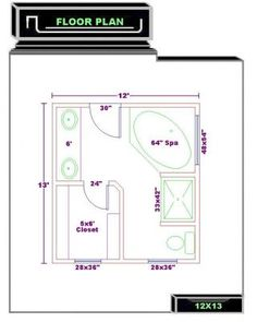 Master bedroom floor plan with the entrance straight into the ...