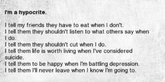 depression suicide tired idk cutting eat sorry depressive ...