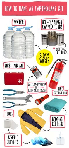 The essentials you need for an earthquake kit.