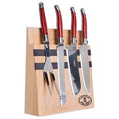 Modern Kitchen Knife Set mercer® genesis six-piece knife set with glass block