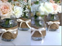 Centerpiece Idea: Mason Jars & Twine - Mason Jar Crafts Love