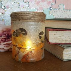 Your place to buy and sell all things handmade Rustic Lamps, Rustic Decor, Sweet Jars, Glitter Art, Childrens Gifts, Candle Jars, Candles, Bottles And Jars, Fairy Lights