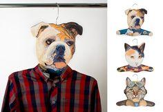 Animal head hangers gift by Annie Schultz