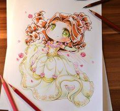 princesas disney tiernas dibujo Lighane-2