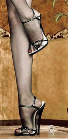 The pleasure of high Heels: black sandals black pantyhose High Heels Boots, Strappy High Heels, Socks And Heels, Hot High Heels, Black Sandals, Stiletto Heels, Pantyhose Heels, Stockings Heels, Black Pantyhose