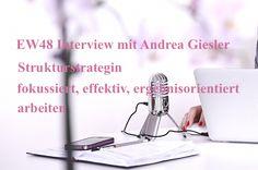 Strukturstrategin Andrea Giesler spricht mit Katharina Boersch-Stefanic über das Implementieren von Handlungsabläufen, Zeiteffizienz und optimierte Strukturen für Selbständige und Solounternehmer