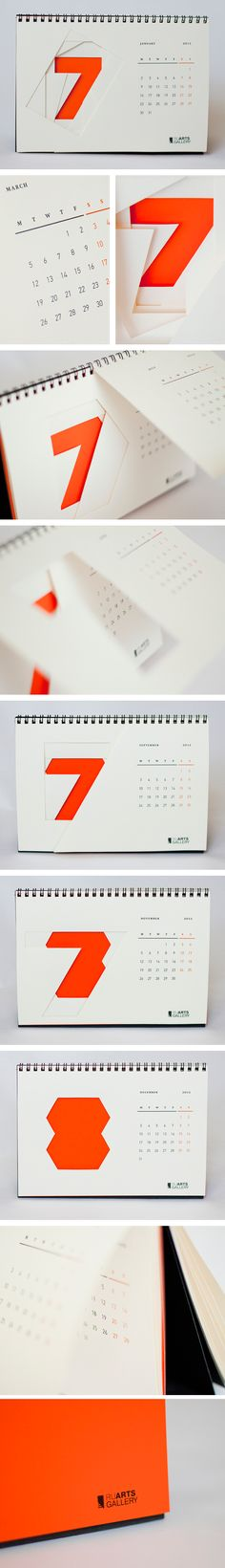 RuArts gallery calendar on Behance
