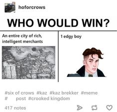 It's obvious. Of course one edgy boy
