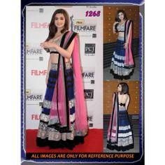 Exclusive Alia Bhatt blue coloue lehenga
