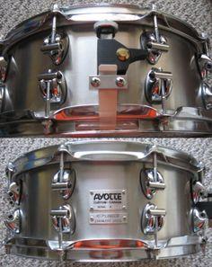 "Ayotte 14 x 5.5"" Custom Stainless Steel Keplinger snare drum."