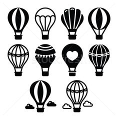 hot air balloon ideas for rock painting