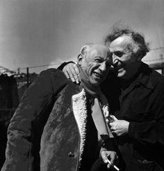 Picasso et Chagall 1955 (Photo Philippe Halsman)