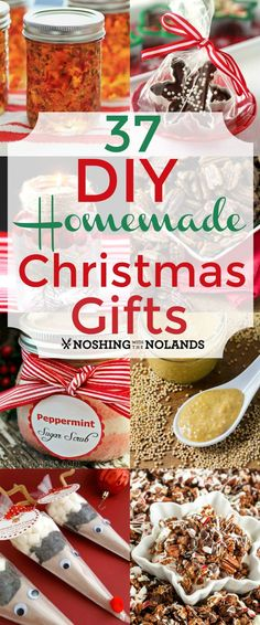 37 DIY Homemade Christmas Gifts from Noshing With The Nolands will be a great help with your gift giving list!