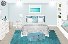 Preppy Bedroom Design by Havenly Interior Designer Sara Preppy Bedroom, Design Process, Rooms, Interior Design, Inspiration, Furniture, Home Decor, Bedrooms, Nest Design