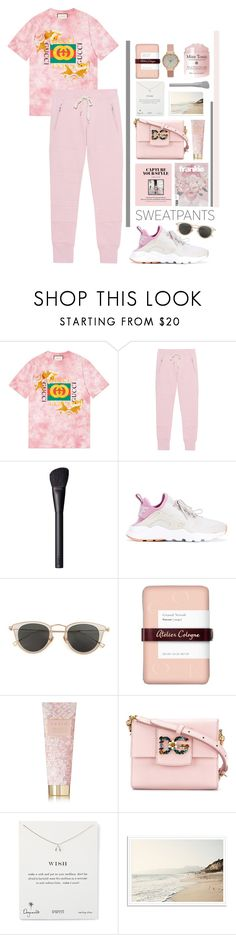 """Comfort and Gucci"" by alinamart ❤ liked on Polyvore featuring Gucci, Sincerely, Jules, NARS Cosmetics, NIKE, Ultimate, Issey Miyake, Atelier Cologne, AERIN, Dolce&Gabbana and Dogeared"