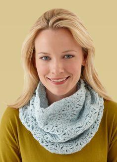 Free Crochet Pattern L10159 Crochet Lace Cowl : Lion Brand Yarn Company