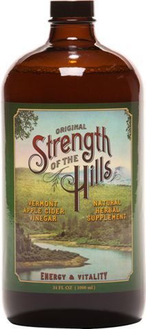 Strength Of The Hills PM Formula is made with Vermont cider vinegar and soothing herbs to encourage sound sleep and overall well-being