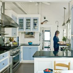 Subtle Beach-Themed Kitchen - 20 Beautiful Beach Cottages - Coastal Living