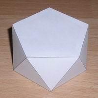 Paper model pentagonal antiprism