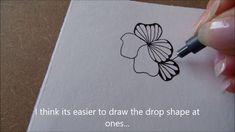 How to draw tanglepattern Ginili Mandala Doodle, Doodles Zentangles, Mandala Drawing, Doodle Drawings, Easy Drawings, Doodle Art, Celtic Drawings, Doodle Patterns, Zentangle Patterns