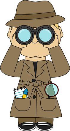Imagen detective para imprimir