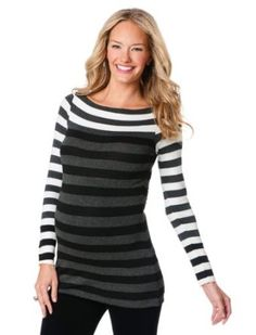 A Pea in the Pod Collection: Bailey 44 Long Sleeve Boat Neck Striped Maternity Top Bailey 44. $119.99